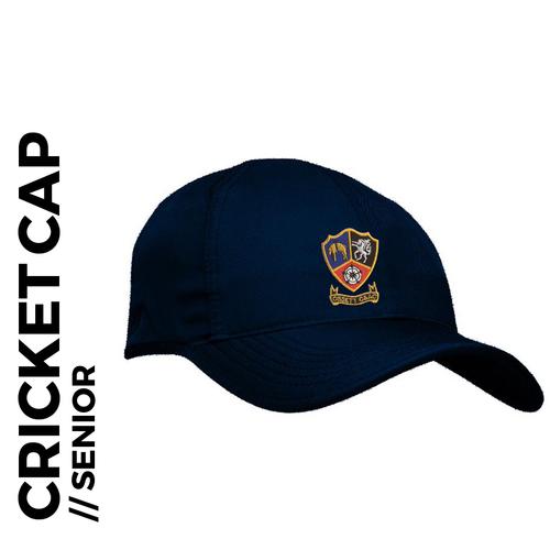 Ossett CC senior Cap Navy Blue, Club Badge Embroidered on front