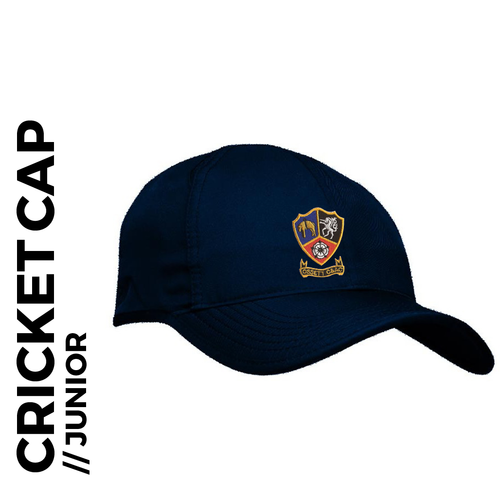 Ossett CC junior Cap Navy Blue, Club Badge Embroidered on front
