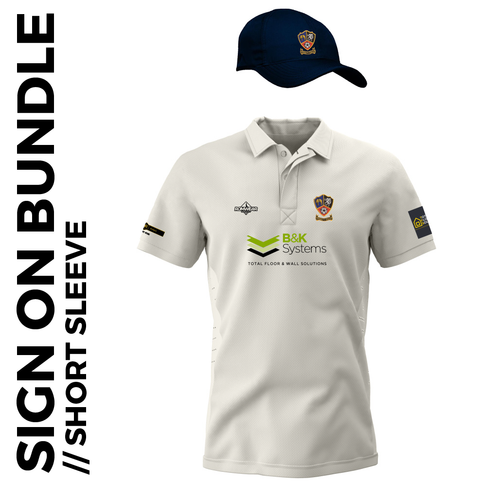 Short sleeve cricket shirt and cap signing on bundle