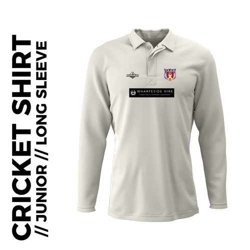 Tabs Long Sleeve Junior Cricket Shirt