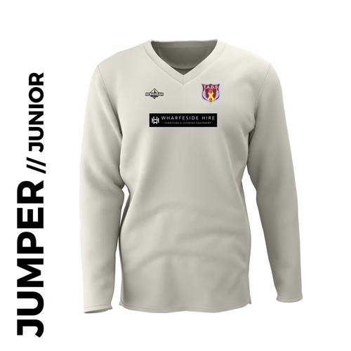 Tabs Long Sleeve Junior Cricket Jumper