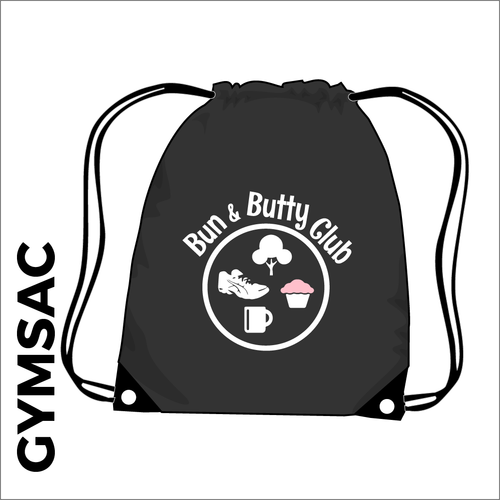 Black Gymsac with club logo on the front