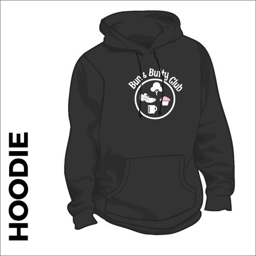 hoodie with printed logo on chest