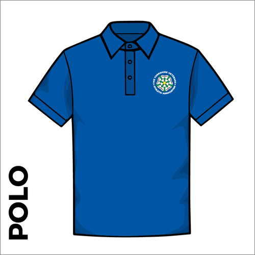 Polo T-Shirt. royal colour ring spun cotton fabric in a double pique knit for breathability and strength. embroidered club badge on left chest.
