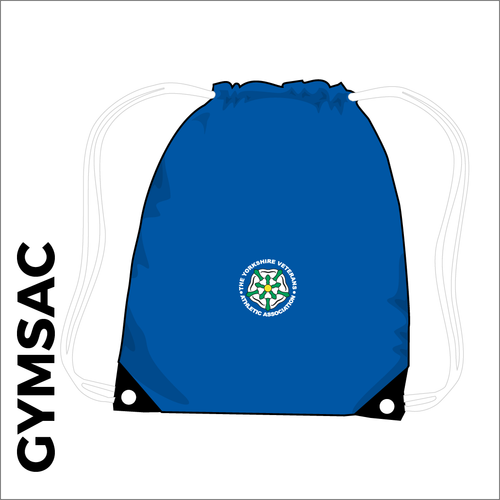 gymsac with embroidered club logo