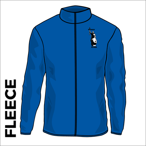 Royal fleece front with embroidered left chest badge