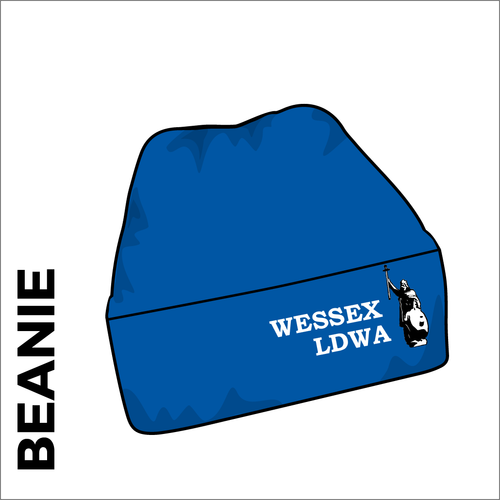 royal turn up beanie with embroidered club crest on the front.