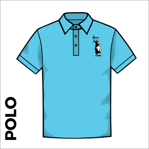 Polo Shirt. Sky Blue colour ring spun cotton fabric in a double pique knit for breathability and strength. embroidered club badge on left chest