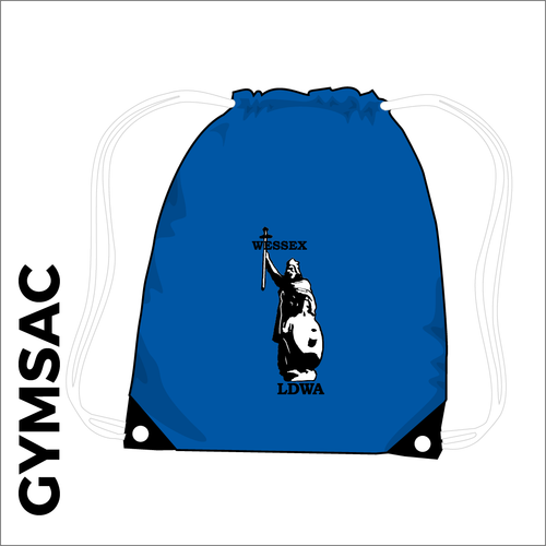 royal gymsac with embroidered club logo
