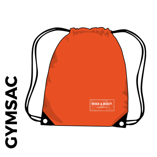 Orange gymsac with embroidered club logo