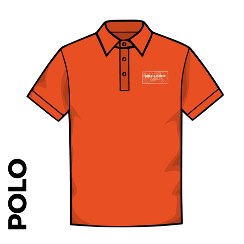 Polo Shirt. Orange colour ring spun cotton fabric in a double pique knit for breathability and strength. embroidered club badge on left chest
