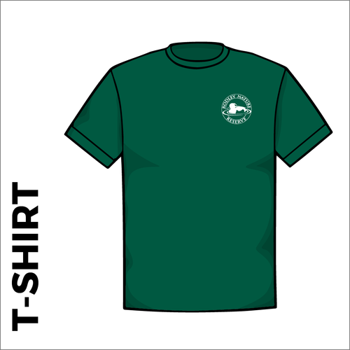 bottle green T-Shirt, Cotton with embroidered chest logo