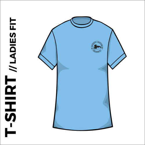 Sky blue Ladies T-Shirt, Cotton with embroidered chest logo