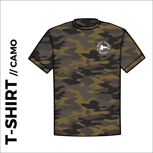 Olive camo T-shirt with embroidered chest logo