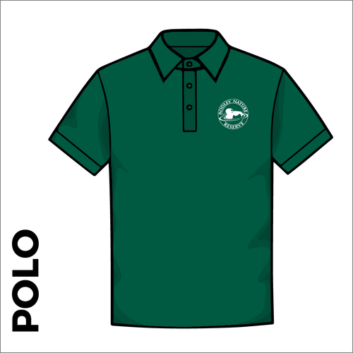 Bottle Green polo shirt with embroidered chest logo