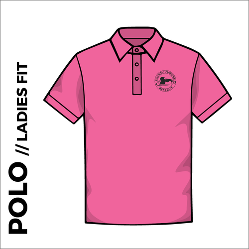 Fuchsia ladies polo shirt with embroidered chest logo