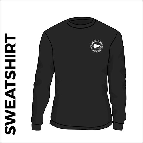 Black sweatshirt with embroidered chest logo