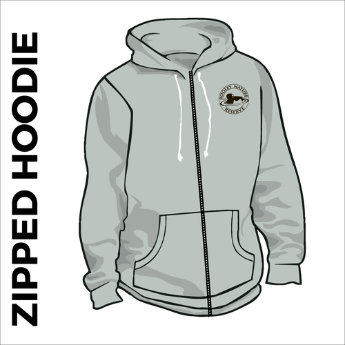 Sports grey Zipped Hoodie with embroidered chest logo