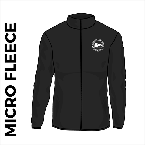 Rodley Nature reserve micro fleece with embroidered club badge in black