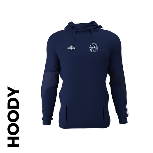 Farsley CC custom cricket edge hoodie with embroidered club badge
