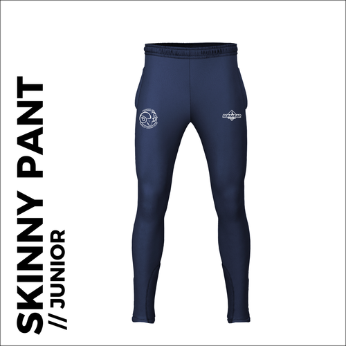 Farsley CC skinny pants, custom cricket kit with embroidered club badge