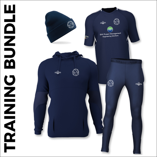 Farsley CC cricket training bundle with embroidered club badge