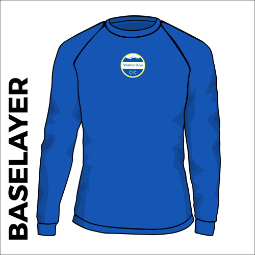 AHCC royal base layer front image with printed club badge on center chest