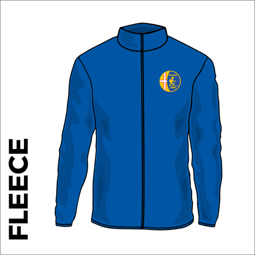 Dorset LDWA Fleece with embroidered club badge on left chest - royal blue