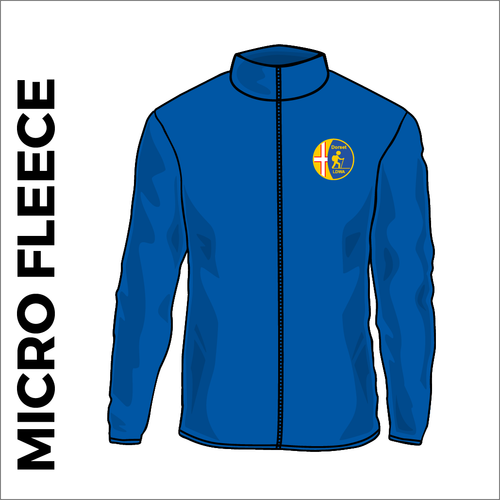 Dorset LDWA Micro Fleece with embroidered club badge on left chest - royal blue