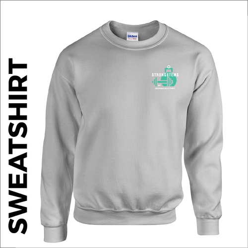 Strong stems Grey sweatshirt with embroided badge on front