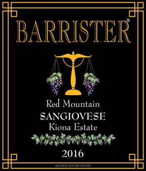 2016 Sangiovese, Red Mountain, Kiona Vineyard