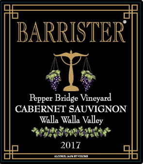 2017 Cabernet Sauvignon, Pepper Bridge Vineyard