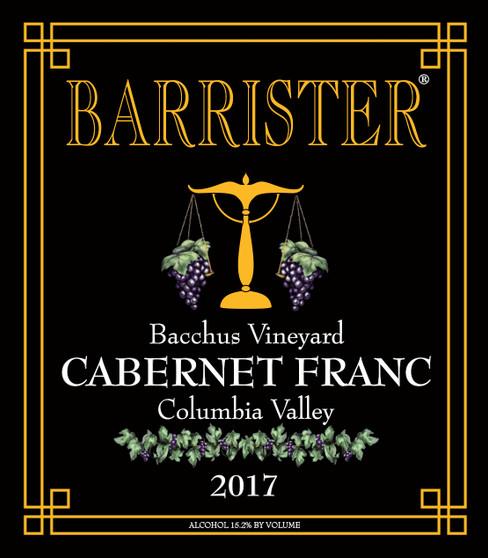 2017 Cabernet Franc, Bacchus Vineyard
