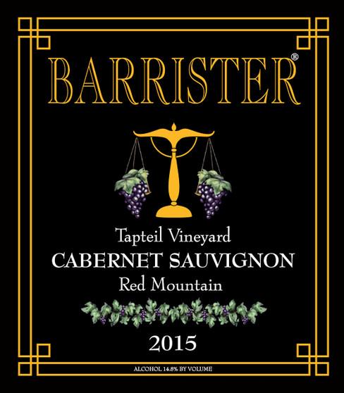 2015 Cabernet Sauvignon, Red Mountain, Tapteil Vineyard