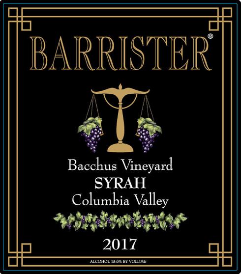 2017 Syrah, Bacchus Vineyard
