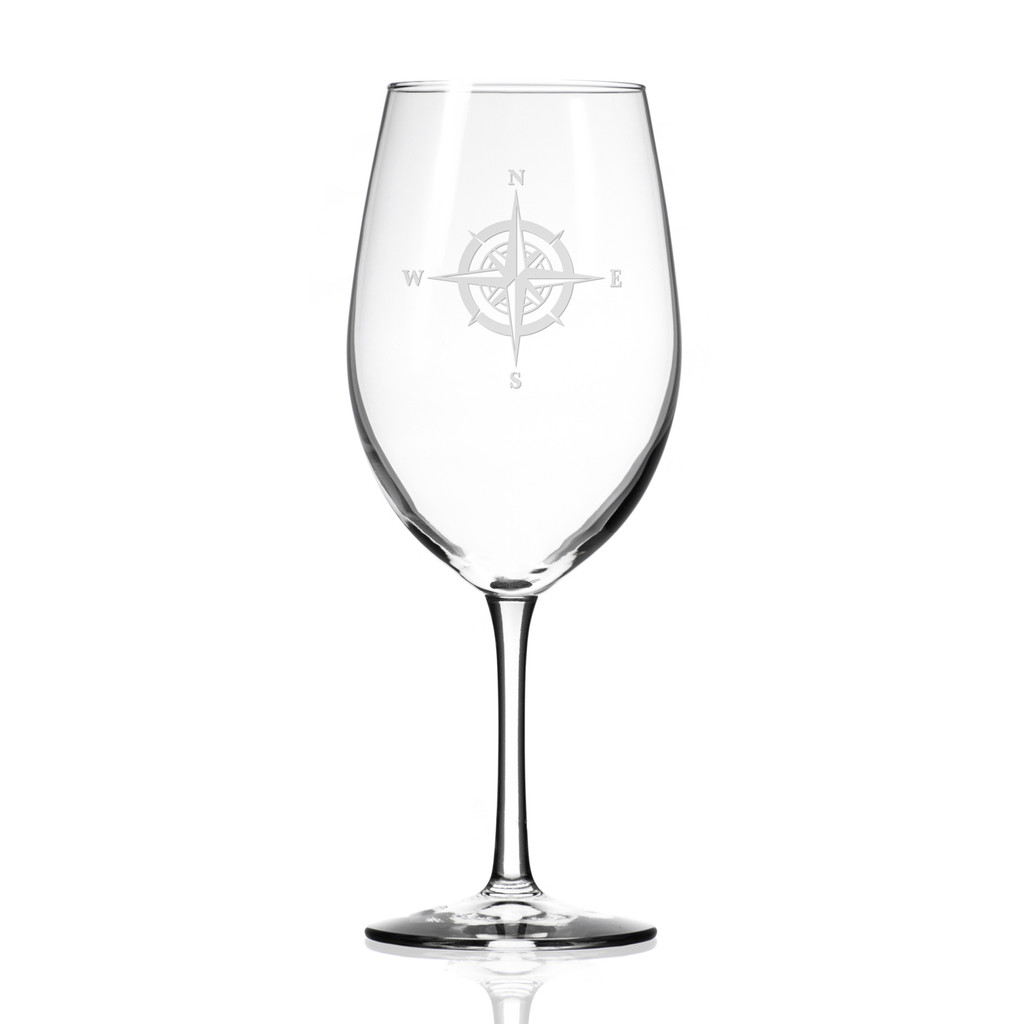 Compass Rose Large Wine Goblets - single image
