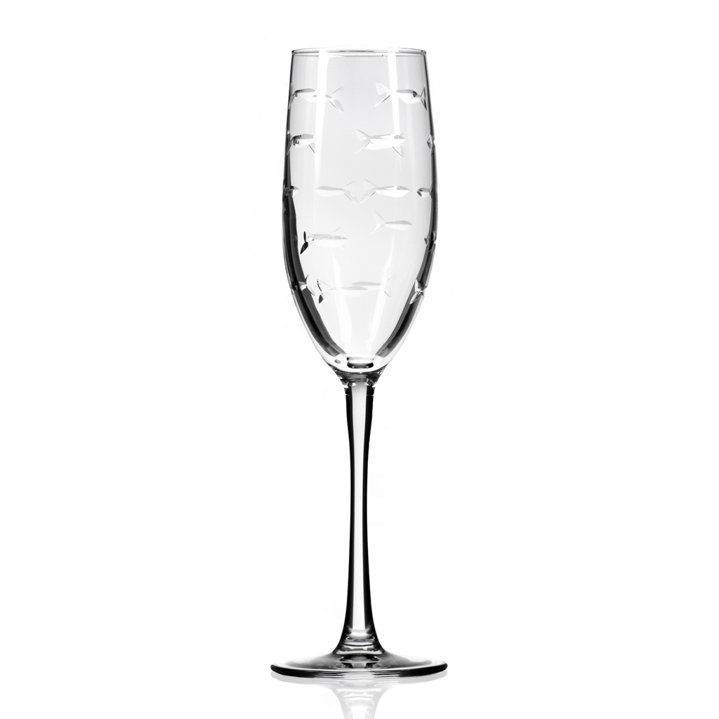 School of Fish Flute Glassware - Set of 4 single image