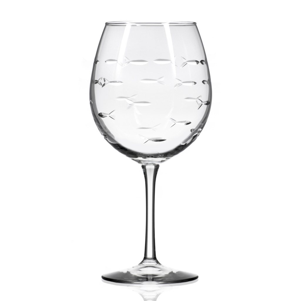 School of Fish Balloon Wine Goblets - Set of 4 single image