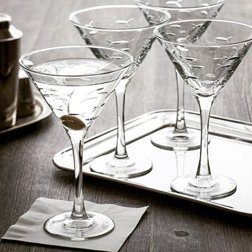 School of Fish Martini Glassware - Set of 4 beauty image