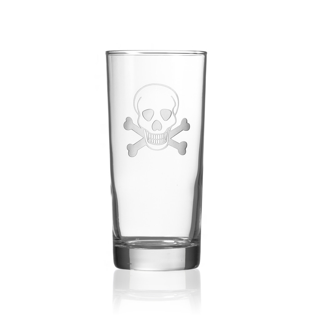 Skull and Cross Bones Cooler Glasses - Single image