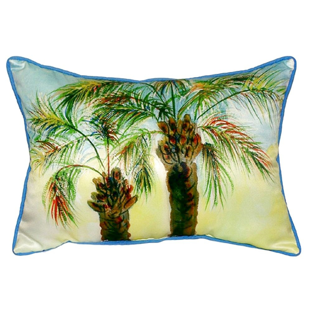 Palm Tree Beach House Pillow