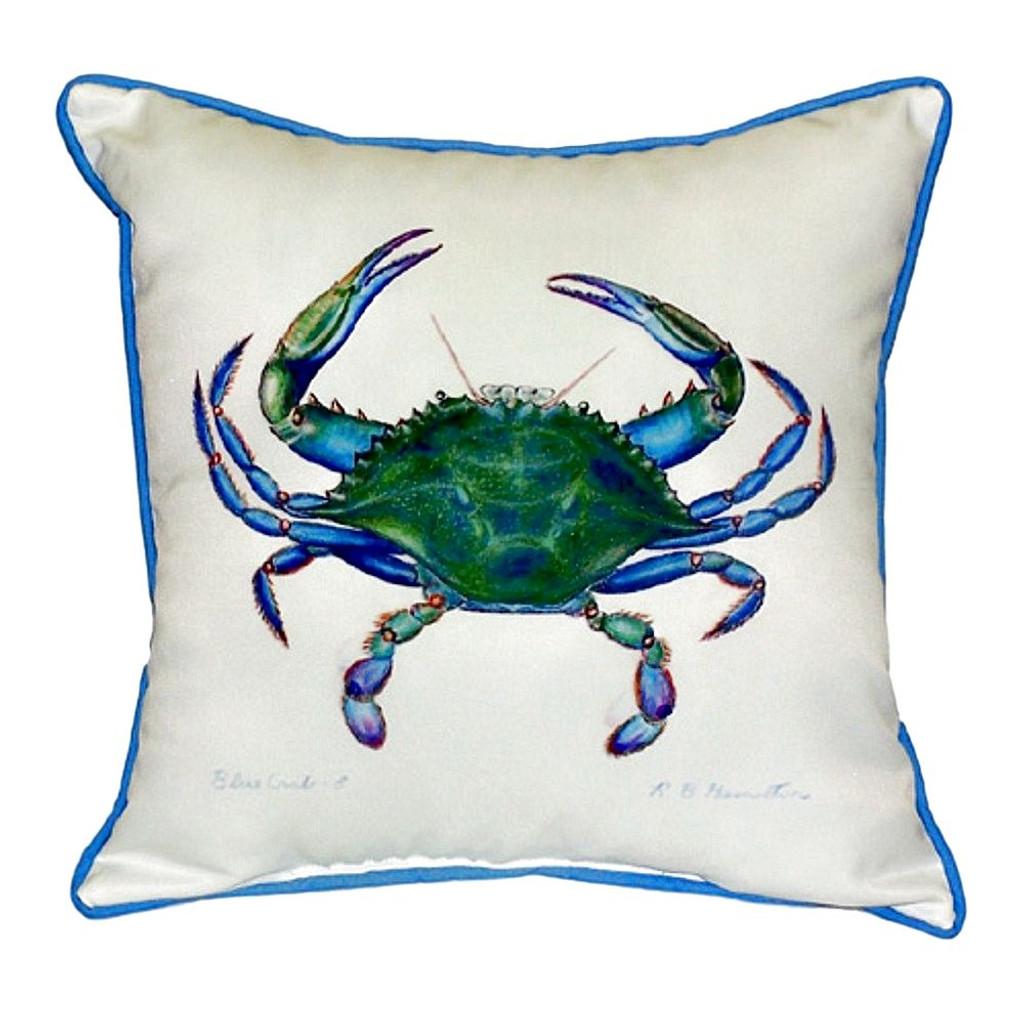 Male Blue Crab Beach House Pillow