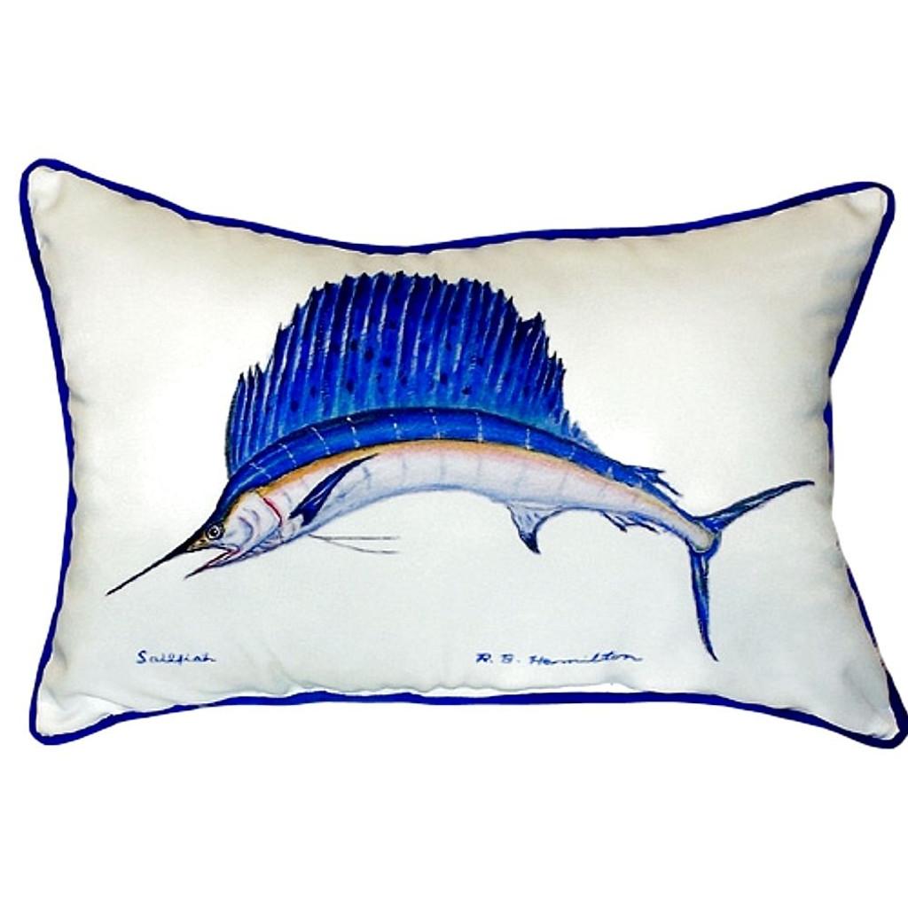 Sailfish Coastal Throw Pillow