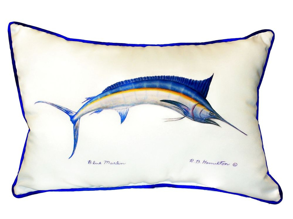 Deep Sea Marlin Coastal Pillow