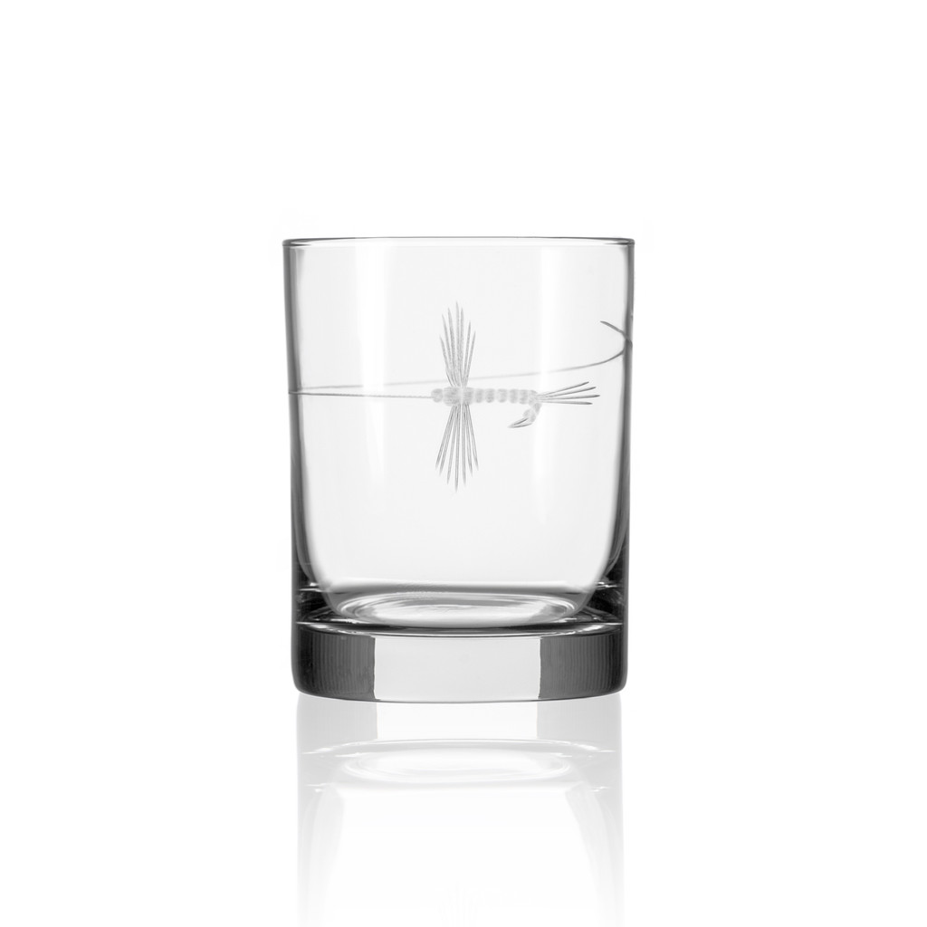 Fly Fishing Etched DOF Glasses - Set of 4 single glass image