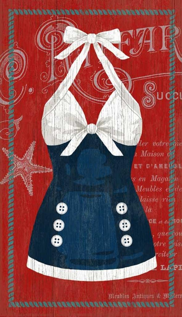 The Sailor Blue Swimsuit Custom Art