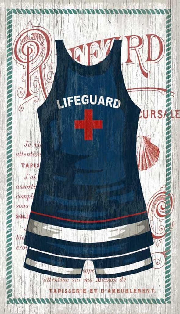 The Blue Lifeguard Swimsuit Custom Art