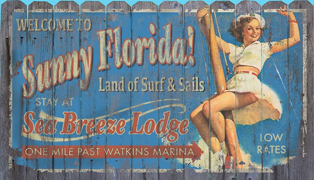 Sunny Florida Retro Art Sign