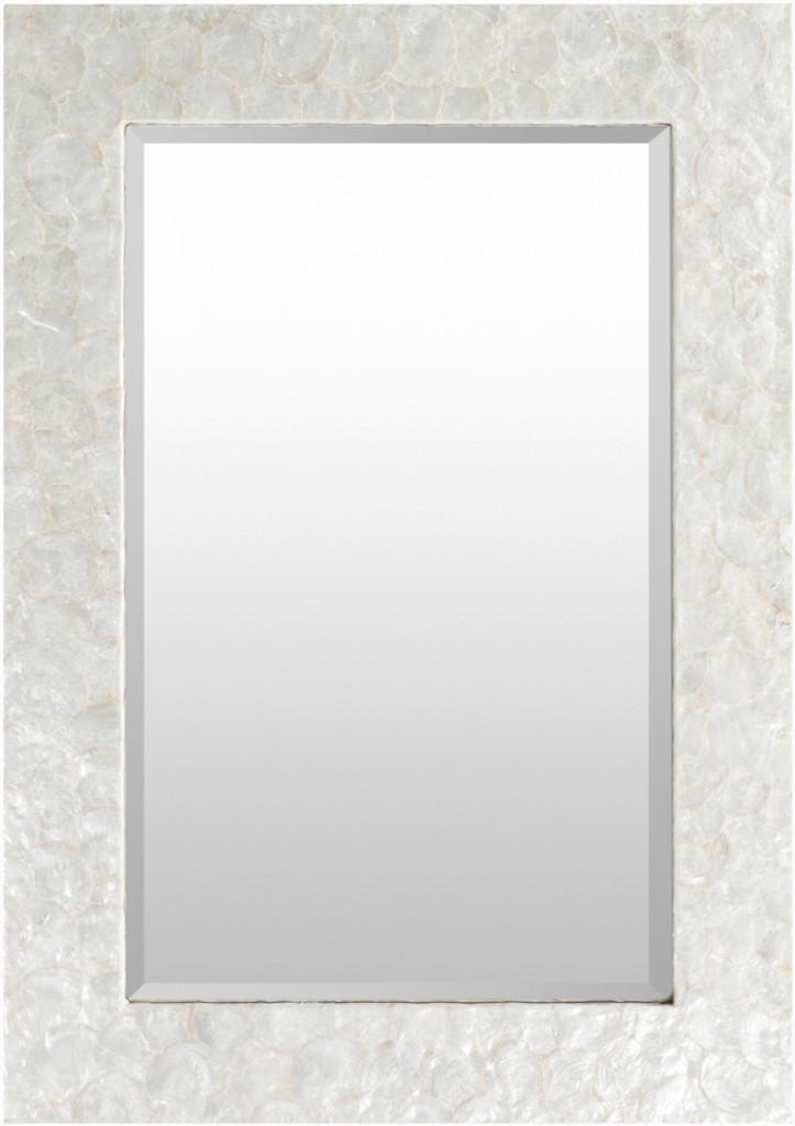 Large Capiz Shell Framed Mirror