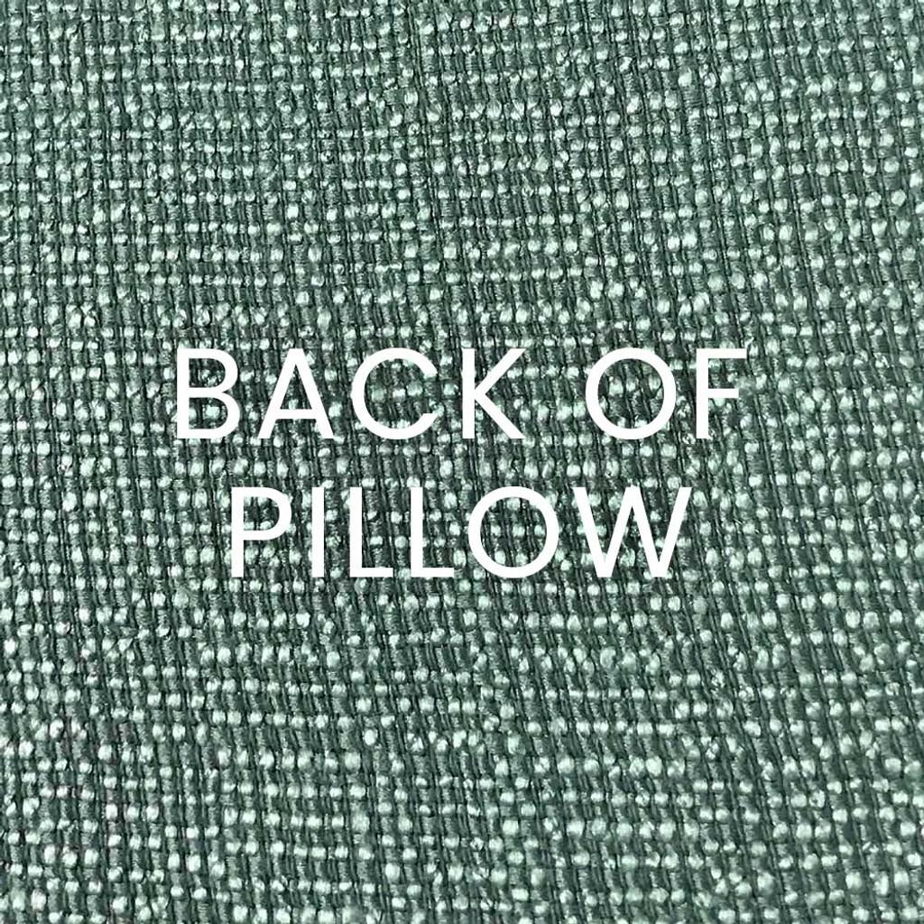 Aqua Seahorse Luxury Pillow back of pillow